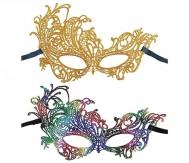 Women Masquerade Gold Venetian Lace Costume Mask Masquerade Ball Party Props