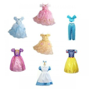 Kids Girls' Costume Princess Fairytale Dress Up Belle Cinderella Alice