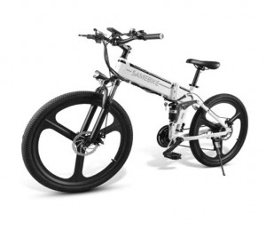 Samebike LO26 Moped Electric Bike Smart Folding Bike E-bike EU plug - White EU plug Poland