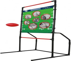 Sport Squad Endzone Challenge - 2-in-1 Football Toss and Flying Disc Toss - Backyard and Lawn Game for Indoor and Outdoor Use - Practice your Throwing Skills with this Football Target Carnival Game