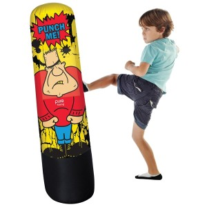 Pure Boxing Bully Bag Inflatable Punching Bag for Kids, 56-inches